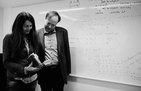 Professor Camilla Serck-Hanssen and Professor Frode Kjosavik lead the 2015/2016 CAS project Disclosing the Fabric of Reality: Metaphysics in the Age of Science. Photo: Maria Tesaker/CAS